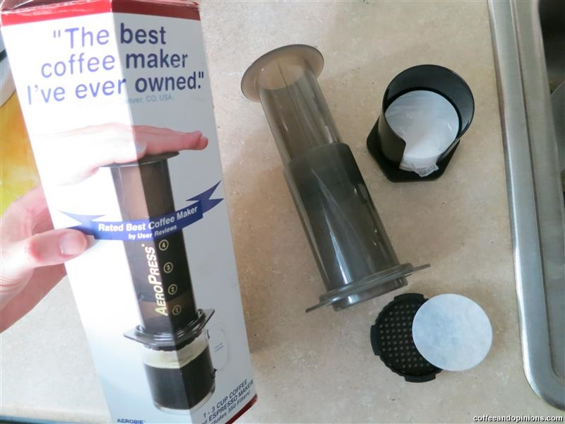 Aeropress Coffeemaker - brew coffee with hot water and a manual device